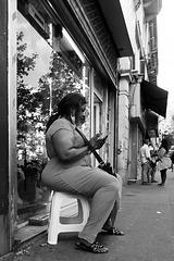 Paris - portrait d'un tabouret solide