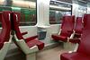 First-class interior of a Dutch train
