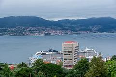Blick vom Monte O Castro Berg über die Ría de Vigo