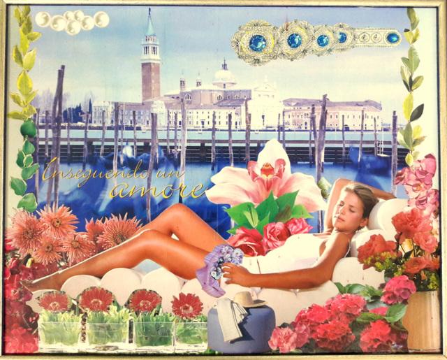 Sognando ed inseguendo un amore a Venezia, fra i fiori ed ironia!! Decoupage degli anni 2000!