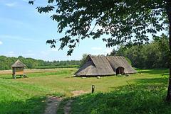 Nederland - Wekeromse Zand, IJzertijd boerderij