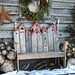 Details of a Christmas shed