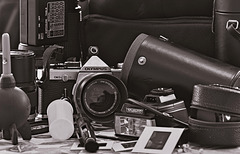 Old Film photography gear.