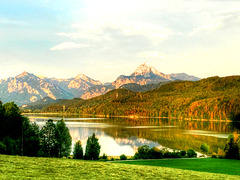 Evening atmosphere at Lake Weissensee. ©SiFr