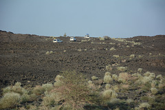 Ethiopia, on the Way to Erta Ale Base Camp off-road through the Lava Fields of the Afar2 Volcanic Zone
