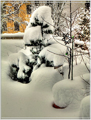 Schneehöhe ca. 80cm.  ©UdoSm