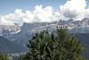 Blick von St. Helena auf den Rosengarten/Dolomiten (2 notes)