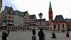 Frankfurt - Römerberg (Ostzeile mit Nikolaikirche)