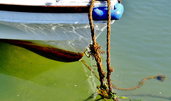 Boat, Rope, Water and Light