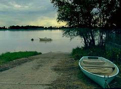 La Garonne au soleil déclinant...
