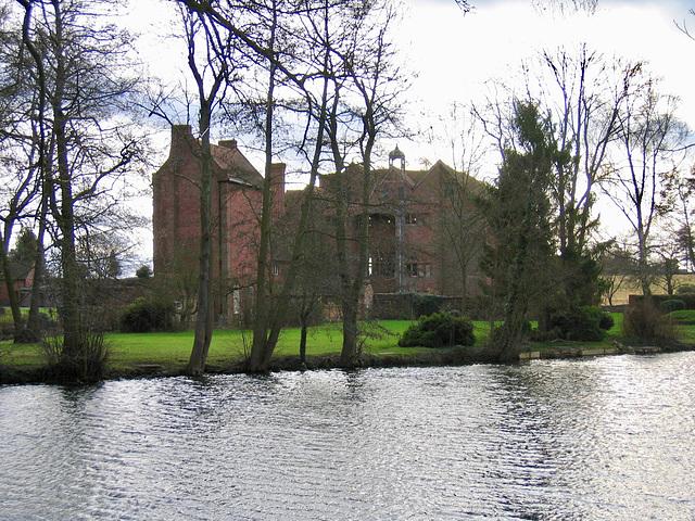 Moat around Harvington Hall (Grade I Listed Building)