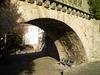 The last arch of a bridge.