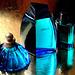 Flacons bleus