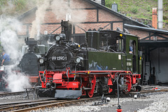 99 1590-1 im Bahnhof Jöhstadt