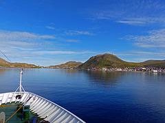 Ankunft in Honningsvag, dem Nordkap schon nahe