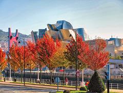 El Guggenheim en otoño. Bilbao.