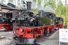 99 1586-7 im Bahnhof Jöhstadt
