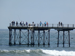 Enjoying the Pier at Saltburn-by-the- Sea