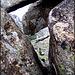Monastery through rock window