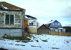 Condemned house, blue house