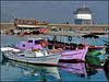 Alanya : Barche da pesca e riflessi sull'acqua immobile