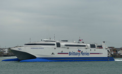Normandie Express arriving at Portsmouth - 8 May 2017