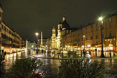 Roma, reflexs in Navona Square