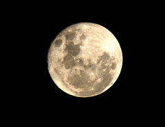 Its Only a paper moon on a Black canvas   sky