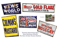 Kent and East Sussex Railway - Northiam Station signs  - 7 8 2014