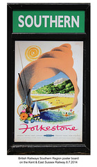 Southern Folkstone poster - Kent and East Sussex Railway -  7 8 2014