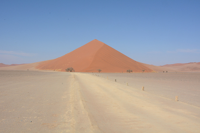 Namibia, A Dirt Road to the Dune No39 in Sossusvlei National Park