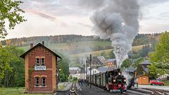 Ausfahrt Bahnhof Steinbach