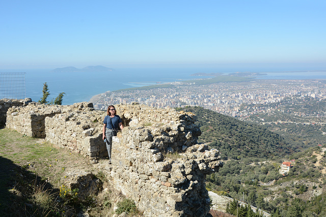Albania, Overview Vlorë and Adriatic Coast from  Ruins of the Castle of Kaninë