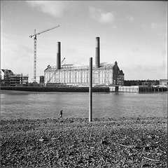 Lots Road power station from Battersea.