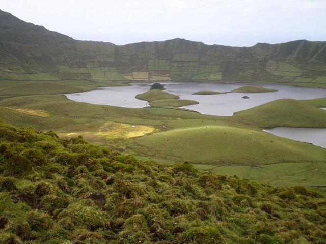 Caldeirão - ancient volcanic crater.