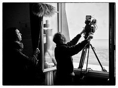 Tournage d'un documentaire à Cabourg