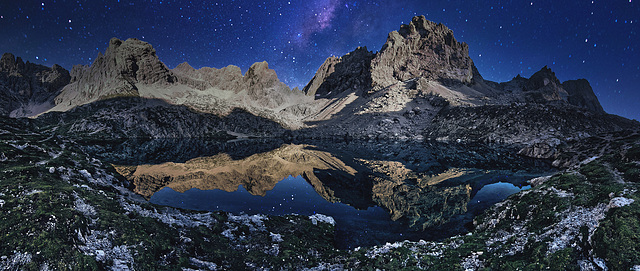 Eastern Tyrolean Dolomites at Night