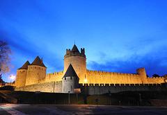 début de soirée au château de Carcassonne
