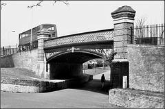 Canal Bridge, Peckham. Route of Surrey Canal.