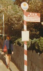 E C Marques bus stop - Nov 1970