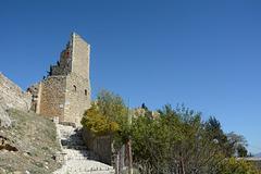 Albania, Vlorë, Ascent Stairs to the Entrance to the Castle of Kaninë