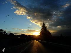 after the rain follow the setting sun