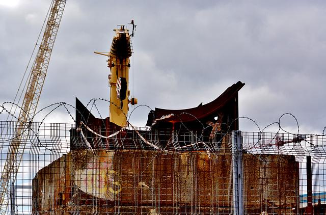 Construction Site,Willington Gut. N.Tyneside
