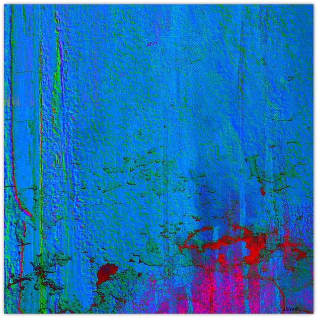 ...blue wall...