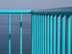 Blue sea balcony