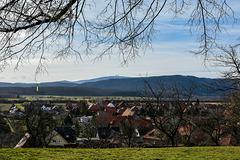 Blick von Stapelburg zum Brocken