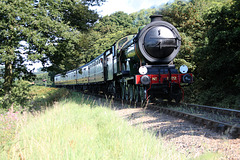 LNER class B12 4-6-0 8572 (B.R.number 61572) between Weybourne and Holt with 1M34 15:37 Sheringham - Holt North Norfolk Railway 2nd September 2017.