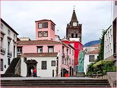 Funchal : il campanile della cattedrale visto da Sud
