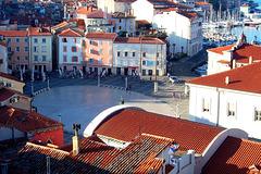 SI - Piran - Tartini Square seen from St. George's church
