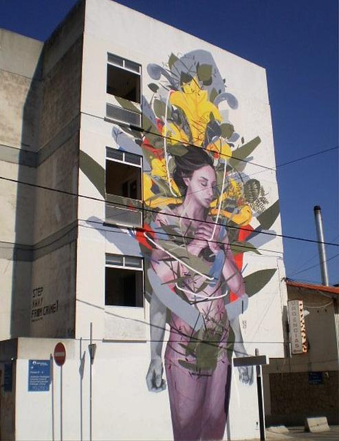 Mural by Argentinian street artist Bosoletti.